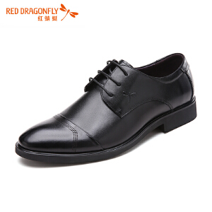 红蜻蜓柔软鞋面职场绅士男士正装商务鞋