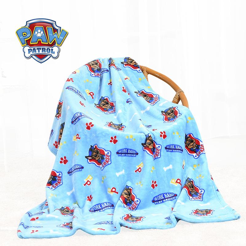 汪汪队立大功(PAW PATROL)儿童毛毯春夏季薄款空调被盖毯幼儿园午睡毛毯宝宝绒毯 轻盈耐用,倍感亲肤,不褪色不掉毛