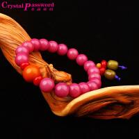 水晶密码CrystalPassWord 天然三宝菩提手珠男女款(紫色)TGMY1Q066