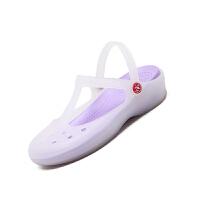 时尚洞洞鞋女夏沙滩鞋厚底防滑果冻鞋包头韩版学生凉拖鞋护士海边可爱