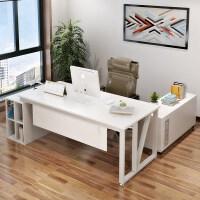 单人总裁大班台办公家具桌老板转角办公桌简约现代主管经理时尚桌