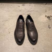 DAZED CONFUSED 潮牌2017男士皮鞋男鞋黑色新款秋季英伦正装商务尖头休闲鞋子