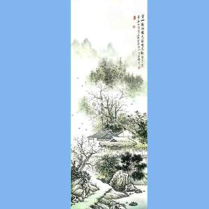 中国美术协会会员,广西省美术家协会理事,国家一级美术师蒋清(空山新雨后)
