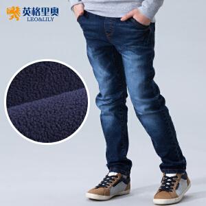 男童牛仔裤长裤小脚全松紧男童弹力牛仔裤时尚加厚牛仔裤630