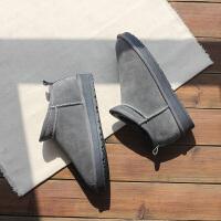 短筒雪地靴女冬季韩版百搭加绒保暖一脚蹬学生低帮棉鞋面包小短靴