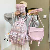 小学生书包女韩版高中森系百搭ins风双肩包校园初中生大容量背包