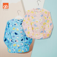 gb好孩子宝宝防水反穿衣儿童吃饭长袖罩衫围裙画画罩衣 婴儿围兜