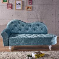 发简易沙发欧式布艺贵妃椅懒人卧室小沙发美人榻美容院小躺椅 颜色左右扶手留言