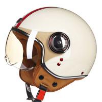 半覆式秋冬季半盔帽四季摩托车电动车头盔男女士