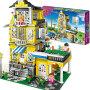 【当当自营】邦宝益智拼装积木小颗粒儿童女孩玩具建筑礼物 浪漫满屋8368
