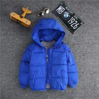 2017新款韩版外套儿童棉袄女童棉衣男童装中大童加厚羽绒潮 宝蓝色 面包服