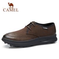 camel骆驼男鞋 秋季新品青少年潮流时尚休闲板鞋牛皮防滑街头潮鞋