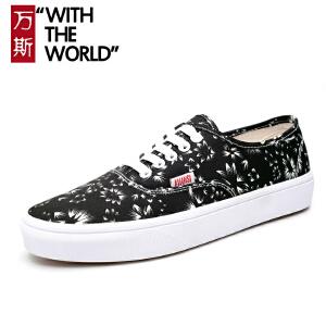 万斯男鞋新款学生滑板鞋经典款帆布鞋韩版情侣鞋女鞋ws004