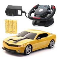 儿童玩具车男孩遥控赛车模型大号方向盘遥控车充电漂移遥控汽车