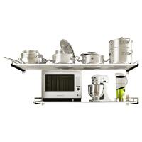 304不锈钢微波炉置物架 厨房收纳储物架层架 墙壁置物架支架