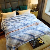 君别商场被子冬天单人珊瑚绒毯子冬季加厚拉舍尔法兰绒毛毯床冬用午睡沙发盖毯 200cmx230cm 约7斤