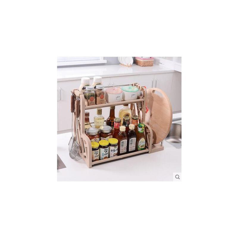 置物架调料架卧室书桌架厨房用具居家用品收纳架子双层调味架