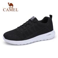 camel骆驼男鞋春季潮流百搭男士休闲跑步运动鞋轻便透气网鞋男士旅游鞋