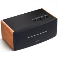 漫步者 D12 无线蓝牙音箱一体式桌面立体声音响音箱 木质多媒体音响户外便携音箱 黑棕色/木质箱体/强劲功率