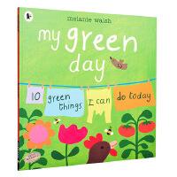 【中商原版】我环保的 英文原版 My Green Day 环保行为培养 儿童环境教育 3-8岁
