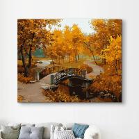 数字油画风景手绘diy数字油彩画大幅现代装饰画填色减压画