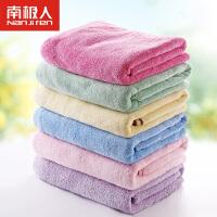 南极人婴儿竹纤维纱布洗澡浴巾毛巾纯棉新生儿童宝宝包巾抱毯盖被