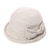 中老年帽子女秋冬韩版新潮妈妈帽羊毛贝雷帽老人帽礼帽保暖盆帽渔夫帽