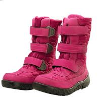 秋冬季户外中筒平跟登山鞋雪地靴女加绒