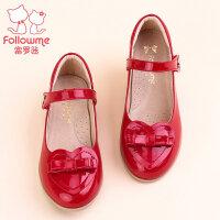 富罗迷女童皮鞋儿童鞋2017秋季新款公主鞋子真皮女童单鞋桃心皮鞋