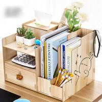 创意办公室用品桌面收纳盒书架文件夹文具简易学生宿舍置物收纳用品