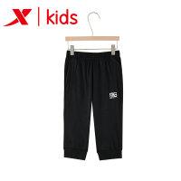 特步儿童 新款女大童针织七分裤 女童休闲裤子 夏季运动时尚女裤882224629237
