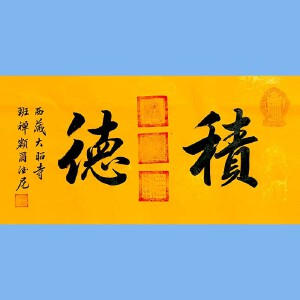 中国佛教协会副会长,中国佛教协会西藏分会第十一届理事会会长十三届全国政协委员班禅额尔德尼确吉杰布(积德