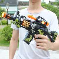 儿童电动玩具枪带声光音乐宝宝小男孩子发光发声男童冲锋抢3-6岁