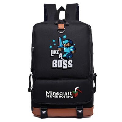 我的世界双肩包苦力怕Minecraft 男女学生夜光书包电脑包