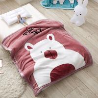 君别儿童毛毯双层加厚宝宝盖毯婴儿新生儿小毯子秋冬季双面珊瑚绒毯子