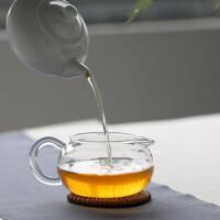 红兔子 260ml苹果茶玻璃海分茶器 功夫茶具耐热玻璃茶具苹果茶海圆形公道杯玻璃公道杯茶道功夫茶具