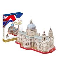 3D立体益智DIY建筑拼图 英国圣保罗大教堂创意拼装模型玩具
