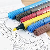 MARCO马可36色水彩笔 12色24色儿童绘画可水洗三角杆中粗笔头彩笔