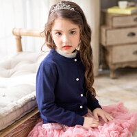 2017秋新款儿童毛衣开衫针织衫女童包芯纱开衫宝宝针织外套韩版