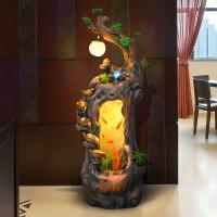 落地中式根雕客厅鱼缸流水加湿器摆件办公室装饰家用喷泉景观礼品