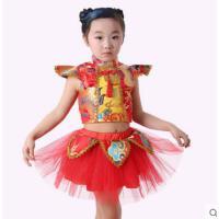 可爱活泼儿童演出服男女童武术服民族舞表演服幼儿园舞蹈服装