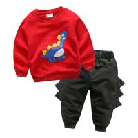 男童卫衣长袖套装 2018韩版春装新款儿童宝宝童装外套卡通两件套