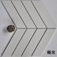 马赛克瓷砖北欧简约人字厨房卫生间餐厅墙砖贴店铺客厅背景墙防滑鱼骨马赛克 其他尺寸