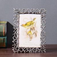 创意欧式相框摆台6 现代简约照片框金属相架房间卧室小装饰品 树枝金属相框