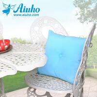 爱优活 欧式沙发靠垫含芯 纯色糖果靠枕办公室护腰椅子靠垫可拆洗