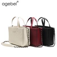 艾吉贝新款真皮包链条包小香风手提包斜跨包气质女包
