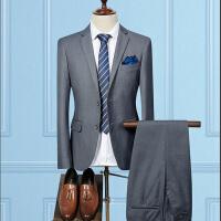 2018082303568792018新款上班商务西装男套装男士正装西服职业英伦风修身韩版休闲三件套装