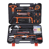 哈博 82家用工具套装 多功能五金工具箱 电工木工维修手动工具组合组套