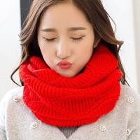 围脖女冬天百搭韩版学生情侣加厚保暖脖套韩国针织毛线套头大围巾