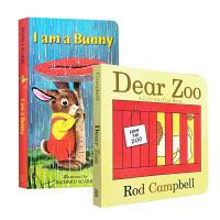 【中商原版】进口英文原版绘本 I Am a Bunny 我是一只兔子 Dear Zoo 亲爱的动物园 宝宝启蒙早教纸板